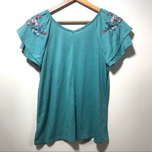 4/$25 St. John's Bay Embroidered Blouse